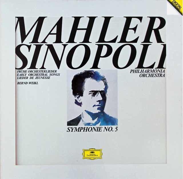 【直筆サイン入り】シノーポリのマーラー/交響曲第5番ほか 独DGG 3117 LP レコード