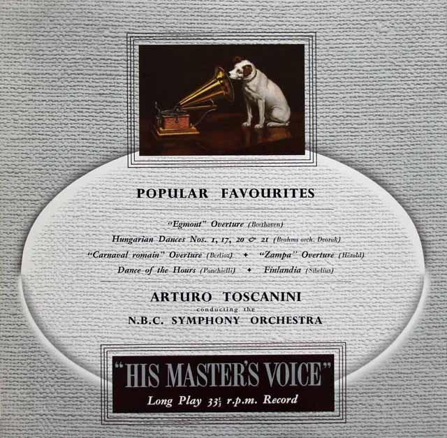 トスカニーニのベートーヴェン/「エグモント」序曲ほか管弦楽名演集 英EMI 3117 LP レコード