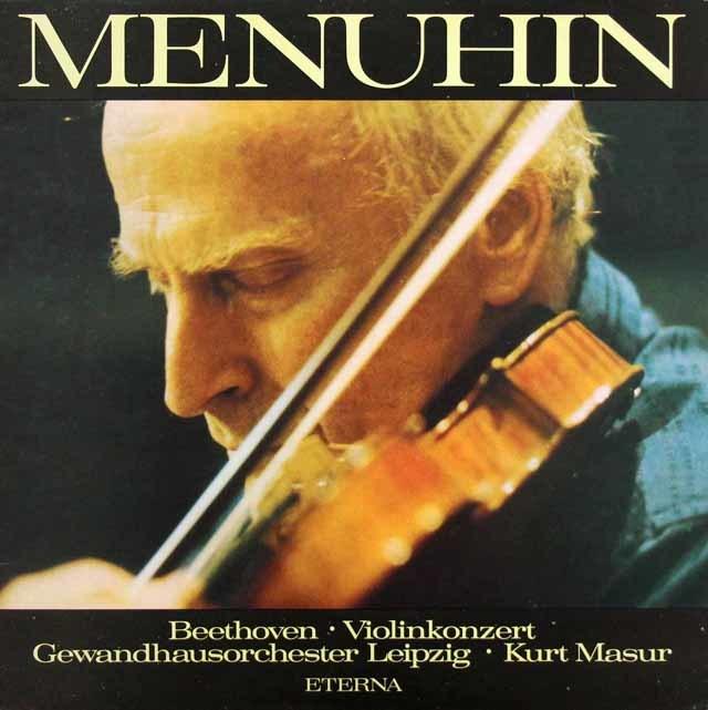メニューイン&マズアのベートーヴェン/ヴァイオリン協奏曲 独ETERNA 3117 LPレコード