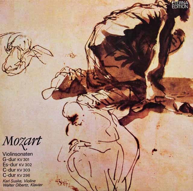 ズスケ&オルベルツのモーツァルト/ヴァイオリンソナタ集(K301~303 & 296) 独ETERNA 3117 LP レコード