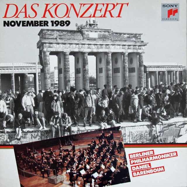 バレンボイムのベートーヴェン/ピアノ協奏曲第1番と交響曲第7番(ベルリンの壁開放コンサート) 独CBS 3117 LP レコード