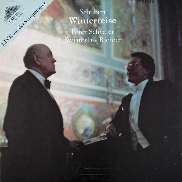 リヒテル&シュライアーのシューベルト/歌曲集「冬の旅」  独ETERNA 3118 LP レコード