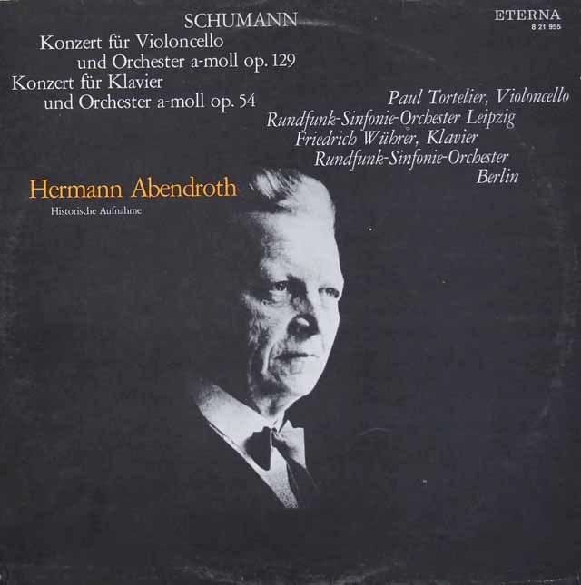 トルトゥリエ&アーベントロートのシューマン/チェロ協奏曲ほか 独ETERNA 3118 LP レコード