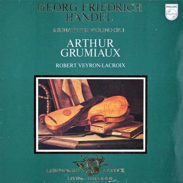 グリュミオーのヘンデル/ヴァイオリンソナタ集   蘭PHILIPS 3118 LP レコード