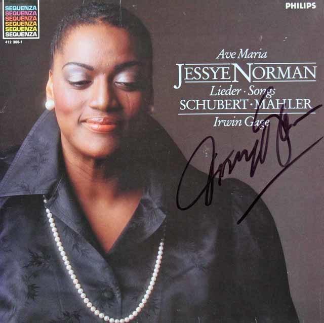 【直筆サイン入り】 ノーマンのシューベルト、マーラー/歌曲集 蘭PHILIPS 3118 LP レコード