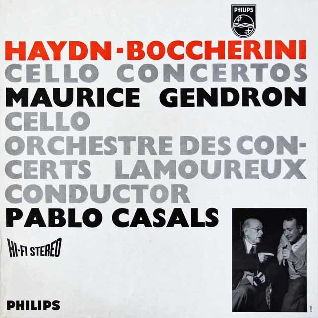 【オリジナル盤】カザルス&ジャンドロンのハイドン&ボッケリーニ/チェロ協奏曲集  蘭PHILIPS 3118 LP レコード