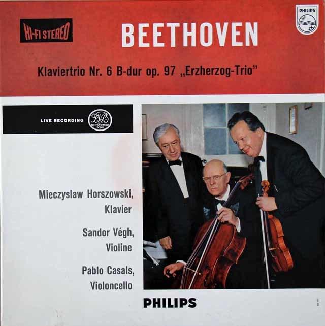 【オリジナル盤】カザルストリオのベートーヴェン/ピアノ三重奏曲第3番ほか 蘭PHILIPS  3118 LP レコード