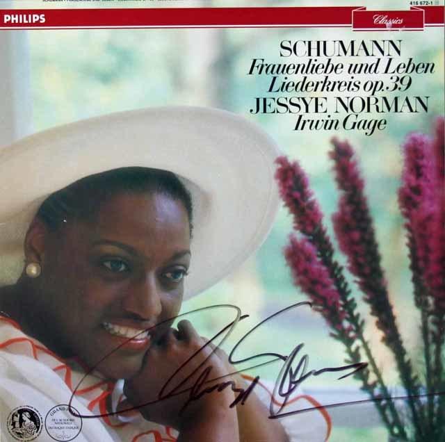 【直筆サイン入り】 ノーマンのシューマン/「女の愛と生涯」ほか 蘭PHILIPS 3118 LP レコード
