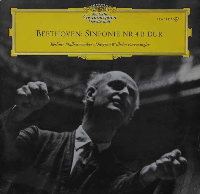 フルトヴェングラーのベートーヴェン/交響曲第4番 独DGG 3118 LP レコード
