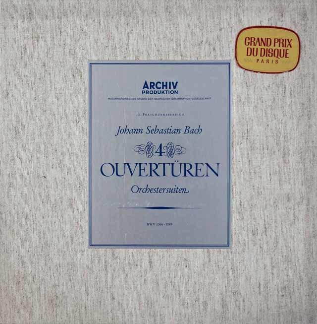 【最初期盤】リヒターのバッハ/「管弦楽組曲」全集 独ARCHIV 3118 LP レコード