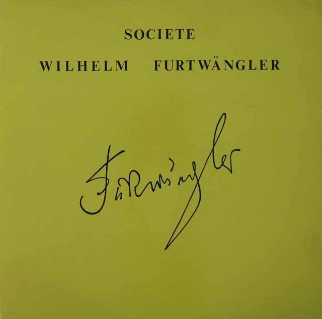 フルトヴェングラーのワーグナー/「トリスタンとイゾルデ」より 仏WF協会 3118 LP レコード