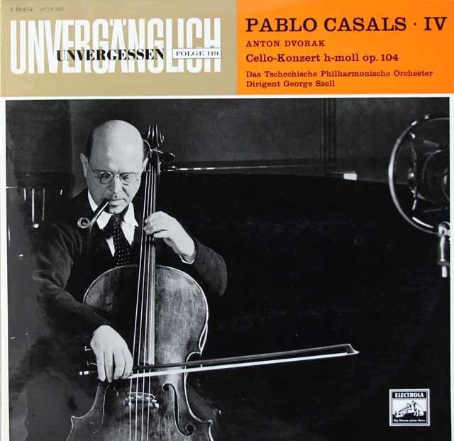 カザルス&セルのドヴォルザーク/チェロ協奏曲 独ELECTROLA 3118 LP レコード