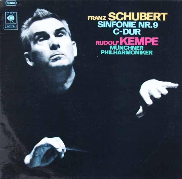 ケンペのシューベルト/交響曲第9番「ザ・グレイト」 独CBS 3118 LP レコード