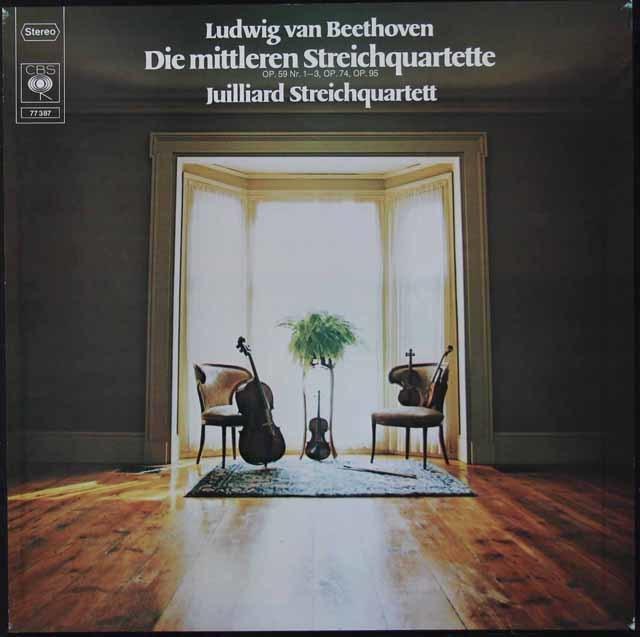 ジュリアード四重奏団のベートーヴェン/中期弦楽四重奏曲集 独CBS 3120 LP レコード