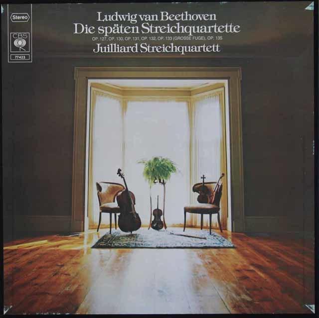 ジュリアード四重奏団のベートーヴェン/後期弦楽四重奏曲集 独CBS 3118 LP レコード