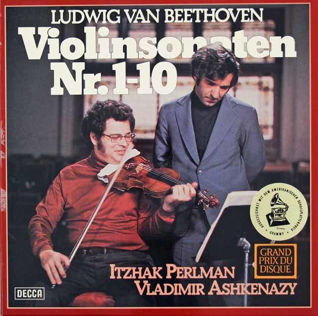パールマン&アシュケナージのベートーヴェン/ヴァイオリンソナタ全集 独DECCA 3118 LP レコード