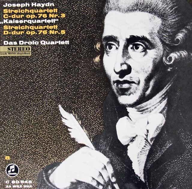 ドロルツ四重奏団のハイドン/弦楽四重奏曲「皇帝」ほか 独Columbia 3119 LP レコード