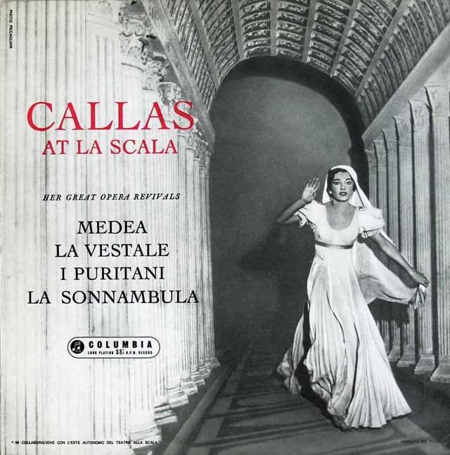 スカラ座のカラス 英Columbia 3119 LP レコード