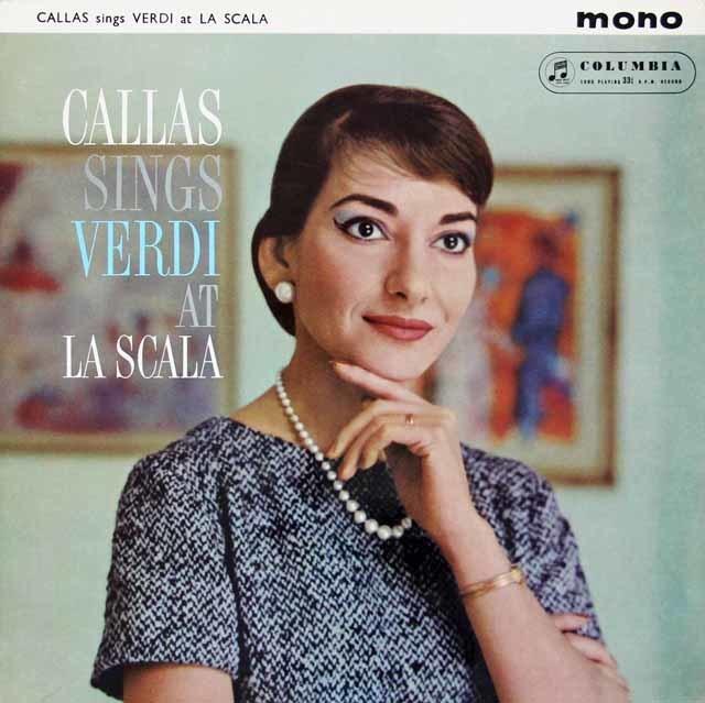 カラス、スカラ座で歌うヴェルディ 英Columbia 3119 LP レコード
