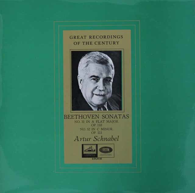 シュナーベルのベートーヴェン/ピアノソナタ第31&32番 英EMI(HMV) 3119 LP レコード