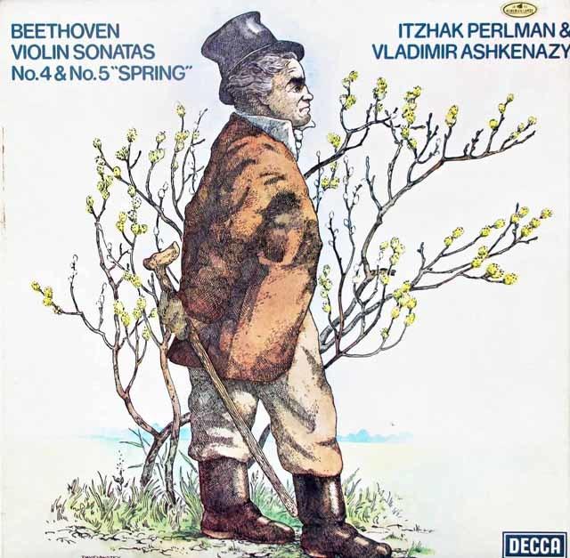 【オリジナル盤】 パールマン&アシュケナージのベートーヴェン/ヴァイオリンソナタ第4&5番「春」 英DECCA 3119 LP レコード