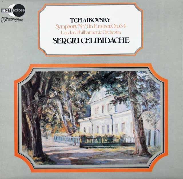 チェリビダッケのチャイコフスキー/交響曲第5番 英DECCA 3119 LP レコード