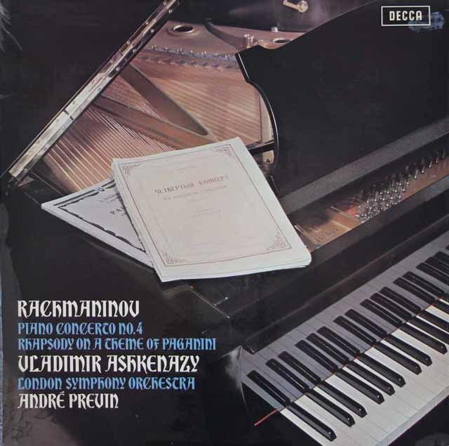 【オリジナル盤】 アシュケナージ&プレヴィンのラフマニノフ/ピアノ協奏曲第4番ほか 英DECCA 3119 LP レコード