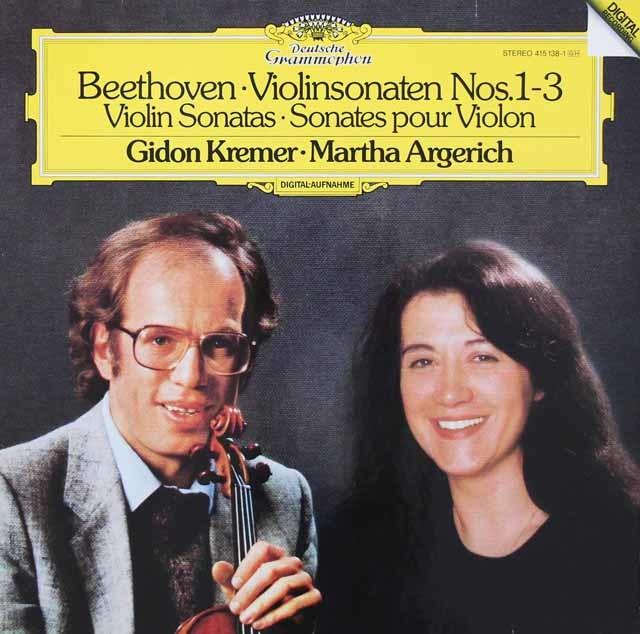 【内袋未開封】 クレーメル&アルゲリッチのベートーヴェン/ヴァイオリンソナタ第1、2、3番 独DGG 3119 LP レコード