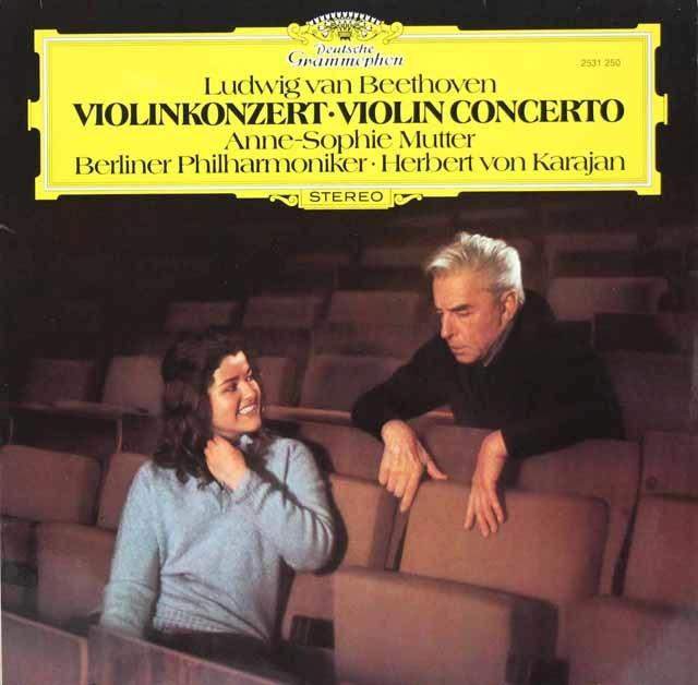 ムター&カラヤンのベートーヴェン/ヴァイオリン協奏曲 独DGG 3119 LP レコード
