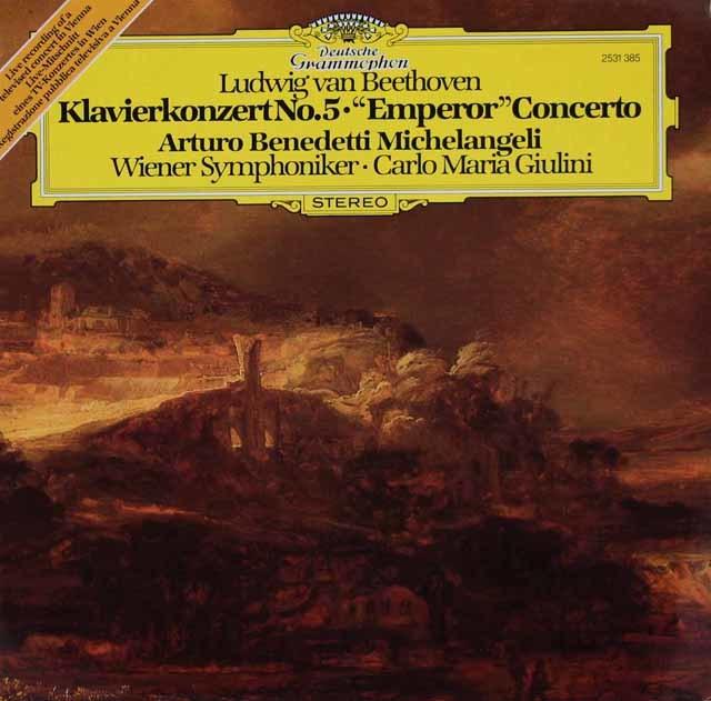 ミケランジェリ&ジュリーニのベートーヴェン/ピアノ協奏曲第5番「皇帝」 独DGG 3119 LP レコード