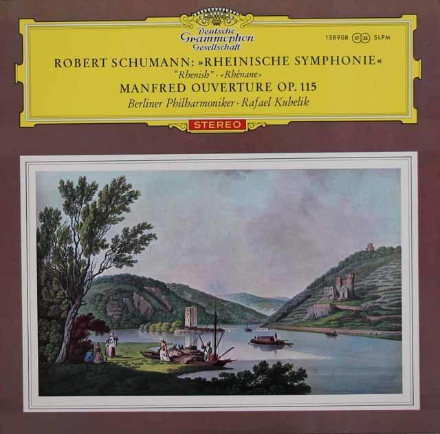 【赤ステレオ/ドイツ最初期盤】 クーベリックのシューマン/交響曲第3番「ライン」ほか 独DGG 3119 LP レコード