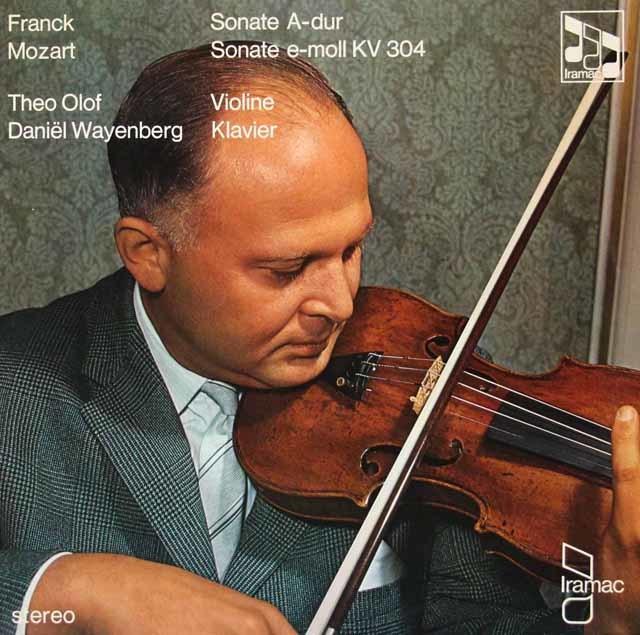 オロフ&ワイエンベルクのフランク&モーツァルト/ヴァイオリンソナタ集 独Iramac 3119 LP レコード