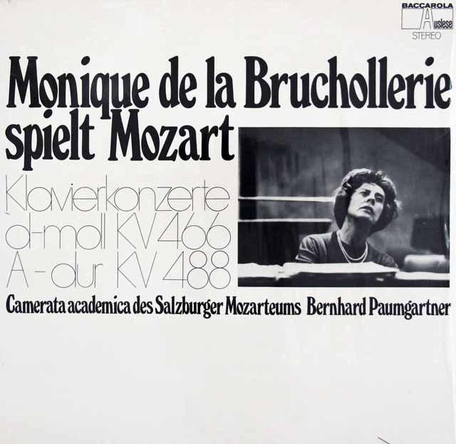 ブリュショルリ&パウムガルトナーのモーツァルト/ピアノ協奏曲第20&23番 独BACCAROLA 3119 LP レコード