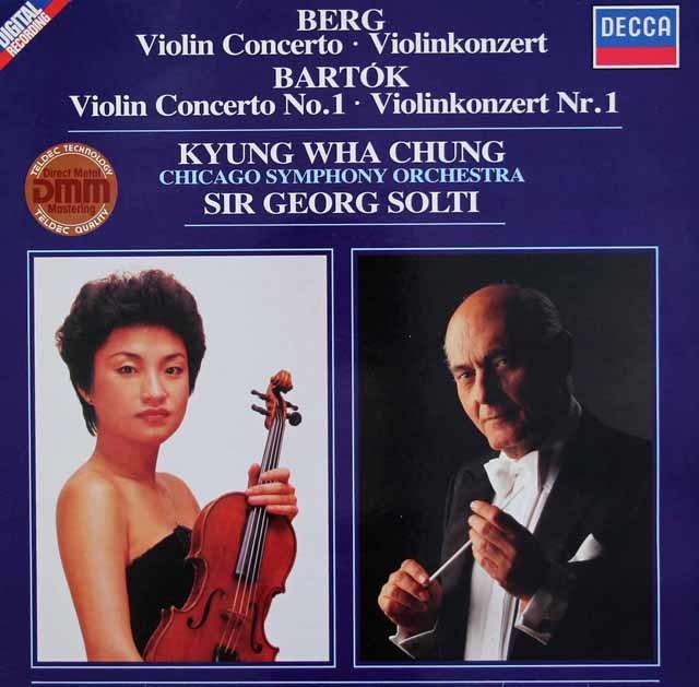 チョン&ショルティのベルク&バルトーク/ヴァイオリン協奏曲集 独DECCA 3119 LP レコード