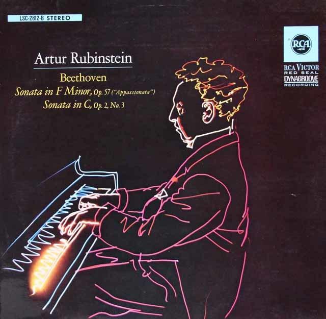ルービンシュタインのベートーヴェン/ピアノソナタ第3&23番「熱情」 独RCA 3119 LP レコード