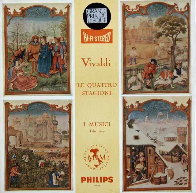 【オリジナル盤】 アーヨ&イ・ムジチ合奏団のヴィヴァルディ/「四季」 蘭PHILIPS 3119 LP レコード