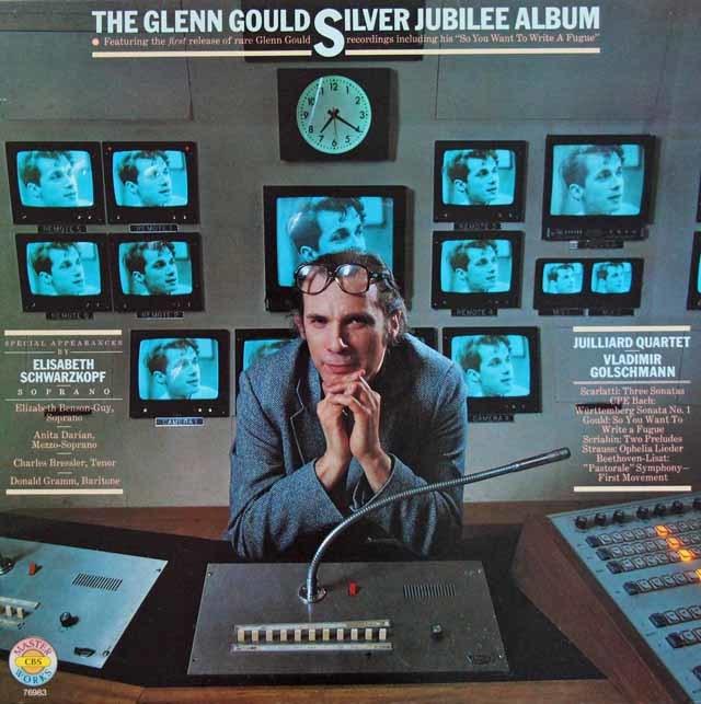 グールドのデビュー25周年記念アルバム 独CBS 3119 LP レコード