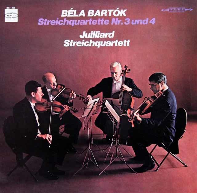 ジュリアード四重奏団のバルトーク/弦楽四重奏曲第3&4番 独EPIC 3119 LP レコード