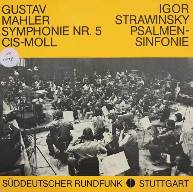 ベルティーニのマーラー/交響曲第5番ほか 独SWR 3119 LP レコード