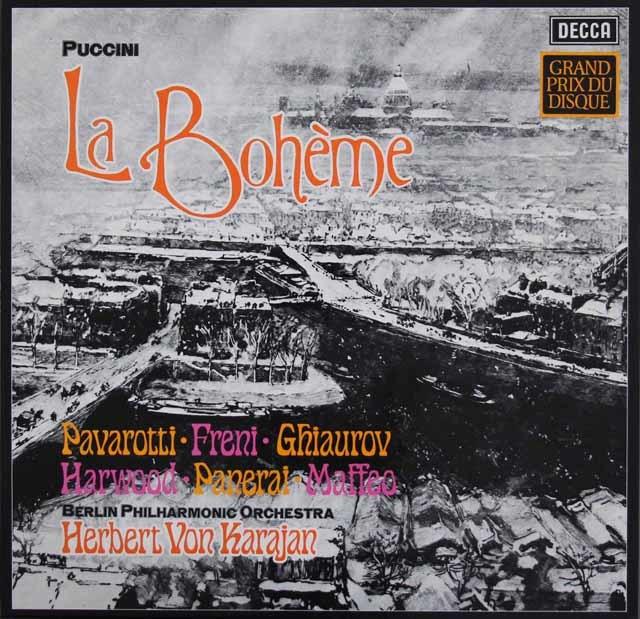 カラヤンのプッチーニ/「ボエーム」全曲  独DECCA 3119 LP レコード