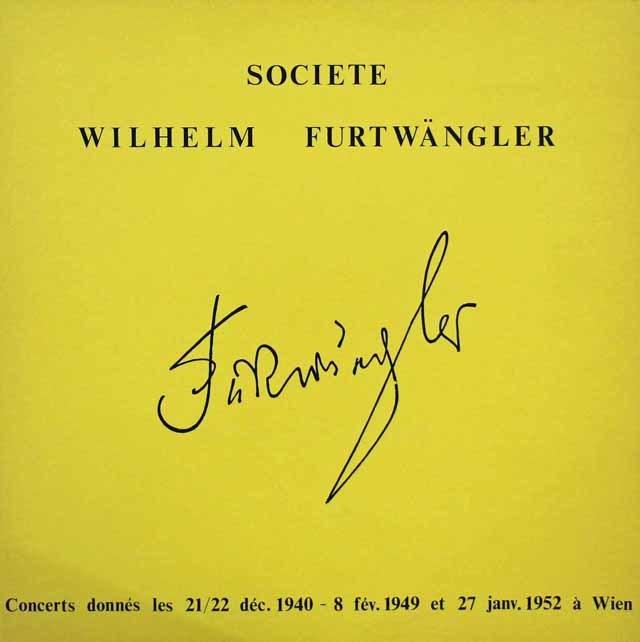 フルトヴェングラーのバッハ/ブランデンブルク協奏曲第5番ほか 仏WF協会 3119 LP レコード