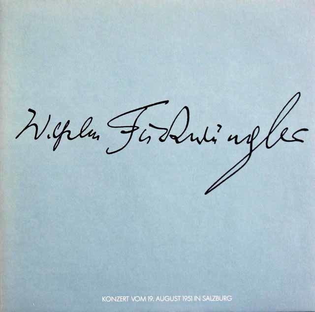 フルトヴェングラーのブルックナー/交響曲第5番ほか 独WF協会 3119 LP レコード