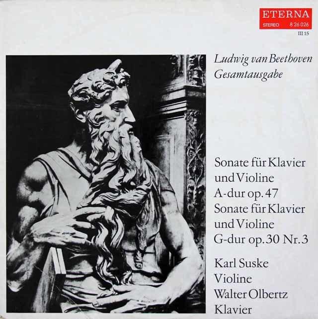 ズスケ&オルベルツのベートーヴェン/ヴァイオリンソナタ第8&9番「クロイツェル」  独ETERNA 3119 LP レコード