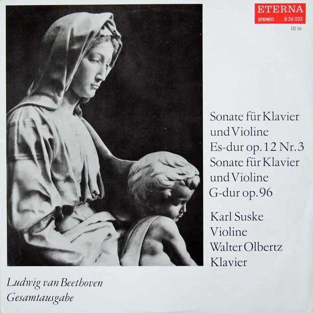 ズスケ&オルベルツのベートーヴェン/ヴァイオリンソナタ第3&10番 独ETERNA 3119 LP レコード