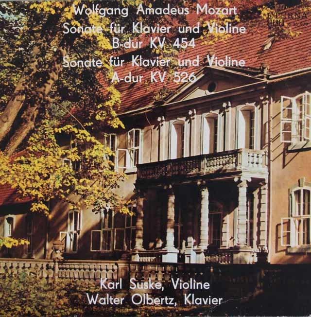 ズスケ&オルベルツのモーツァルト/ヴァイオリンソナタ K.454、K.526 独ETERNA 3120 LP レコード