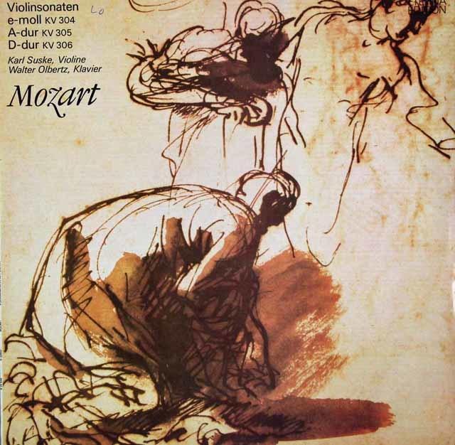 ズスケ&オルベルツのモーツァルト/ヴァイオリンソナタ集(K.304~306) 独ETERNA 3120 LP レコード