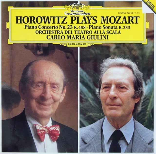 ホロヴィッツ&ジュリーニのモーツァルト/ピアノ協奏曲第23番ほか 独DGG 3120 LP レコード
