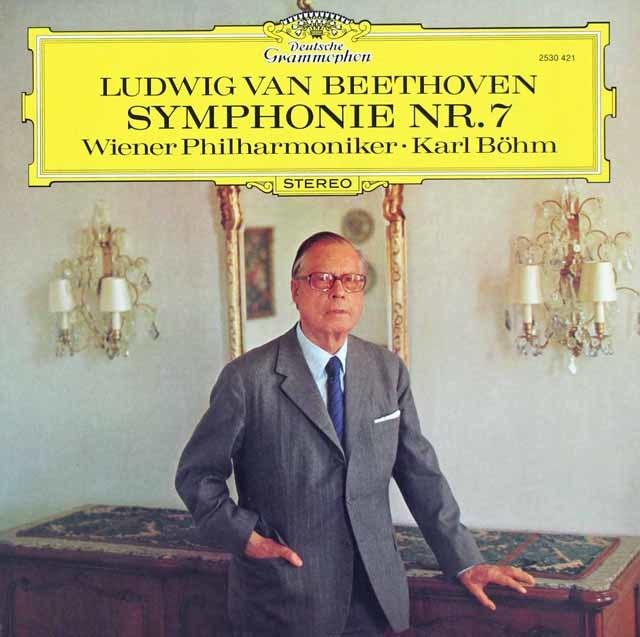 ベームのベートーヴェン/交響曲第7番  独DGG 3120 LP レコード