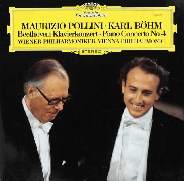ポリーニ&ベームのベートーヴェン/ピアノ協奏曲第4番 独DGG 3120 LP レコード