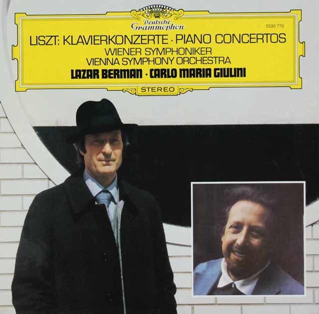 ベルマン&ジュリーニのリスト/ピアノ協奏曲(全2曲) 独DGG 3120 LP レコード